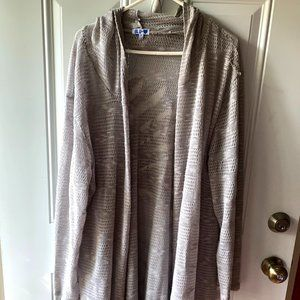 Cute Knitted Look Long Cardigan Size 3X